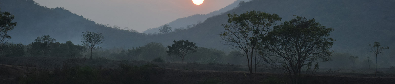 Sunset at Saluapalli Forest Range