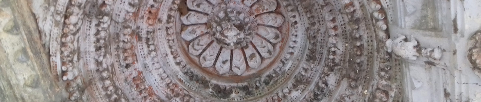 Intricate Interior carvings on the roof of Nirmaljhar temple