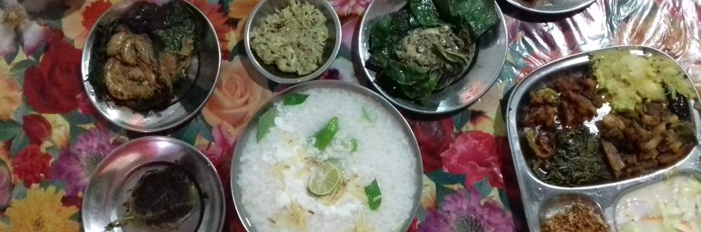 Pokhalo and its accompaniments at Ballaree Hotel CRP Chowk