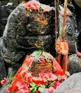 Maa Tarini, the presiding deity of Kutunipadar Tarini Temple